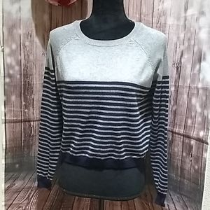 Forever21 Midriff Small Striped Sweater
